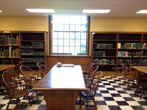 Alderman Library reference room.