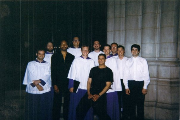 Members of the Suspicious Cheese Lords, Washington National Cathedral, 1998