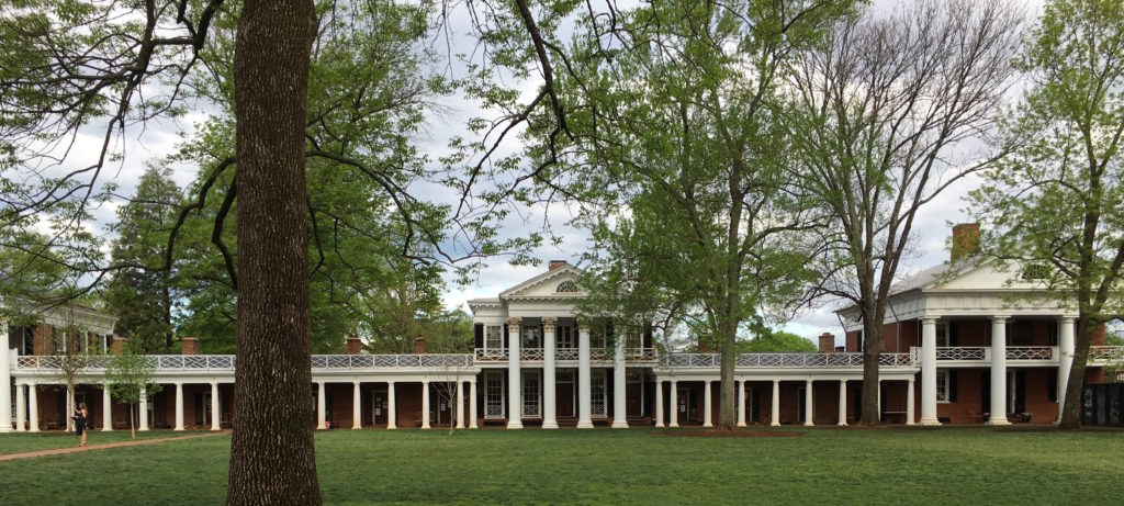 West Lawn (Pavilions I and III with student rooms), University of Virginia